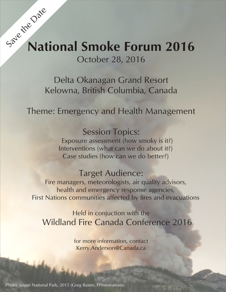 National Smoke Forum savedate